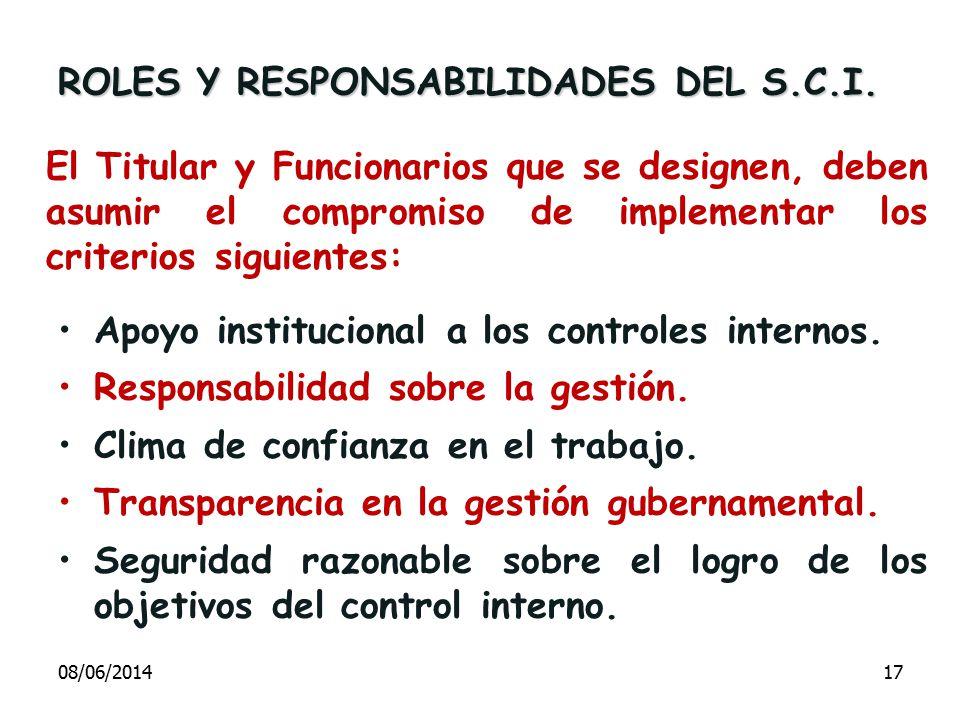 ROLES Y RESPONSABILIDADES DEL S.C.I.