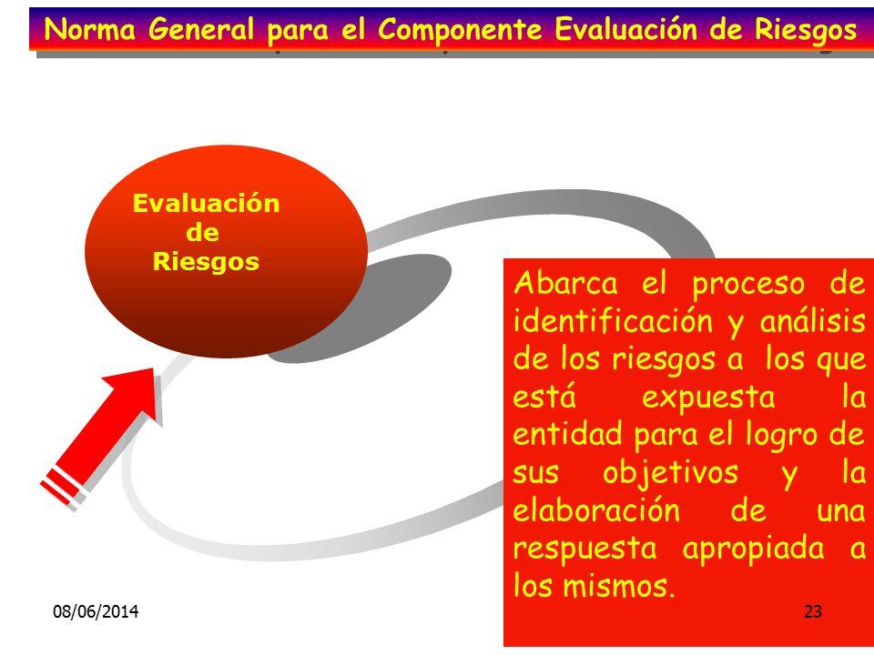 Norma General para el Componente Evaluación de Riesgos