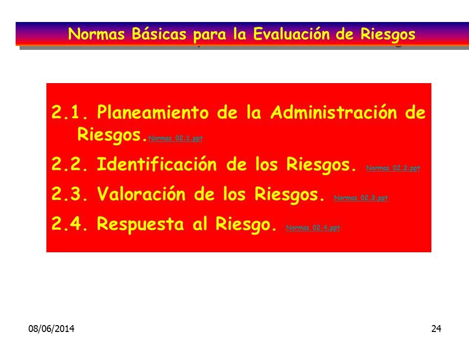 Normas Básicas para la Evaluación de Riesgos