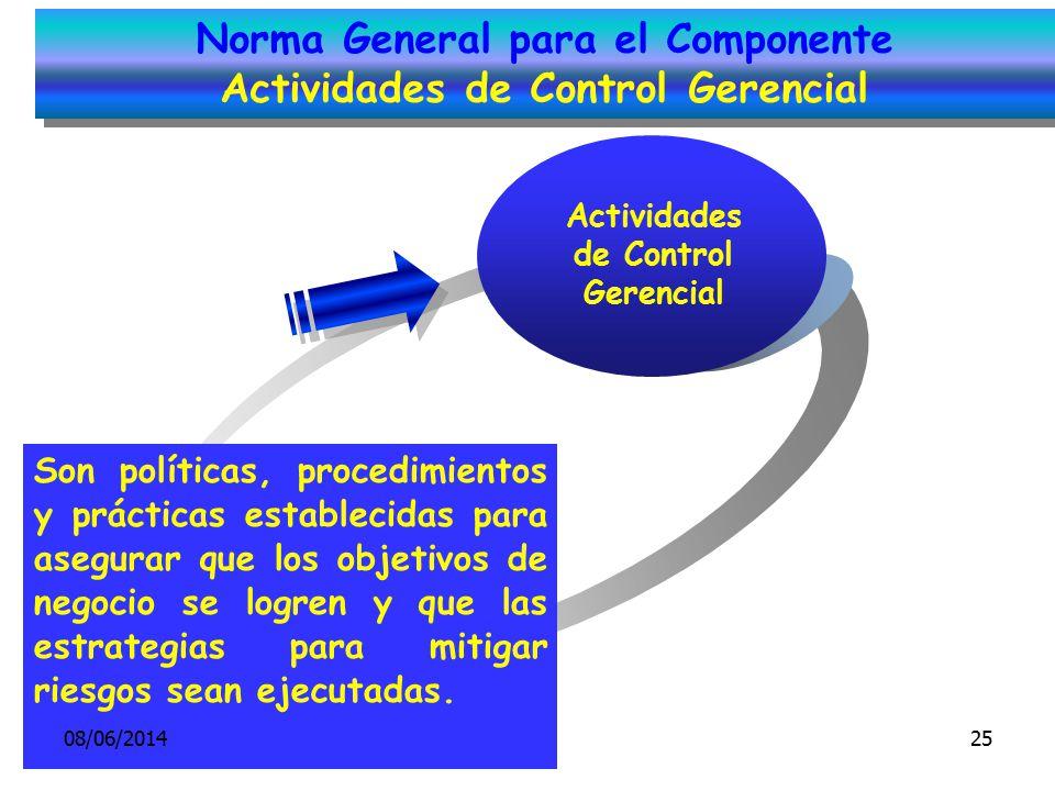 Norma General para el Componente Actividades de Control Gerencial