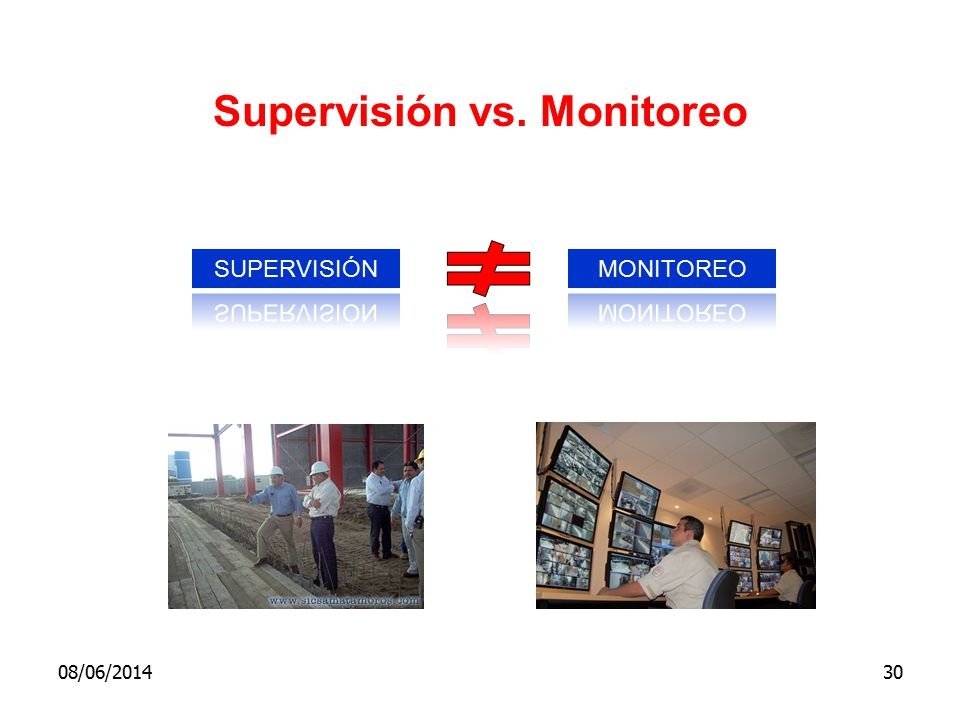 Supervisión vs. Monitoreo