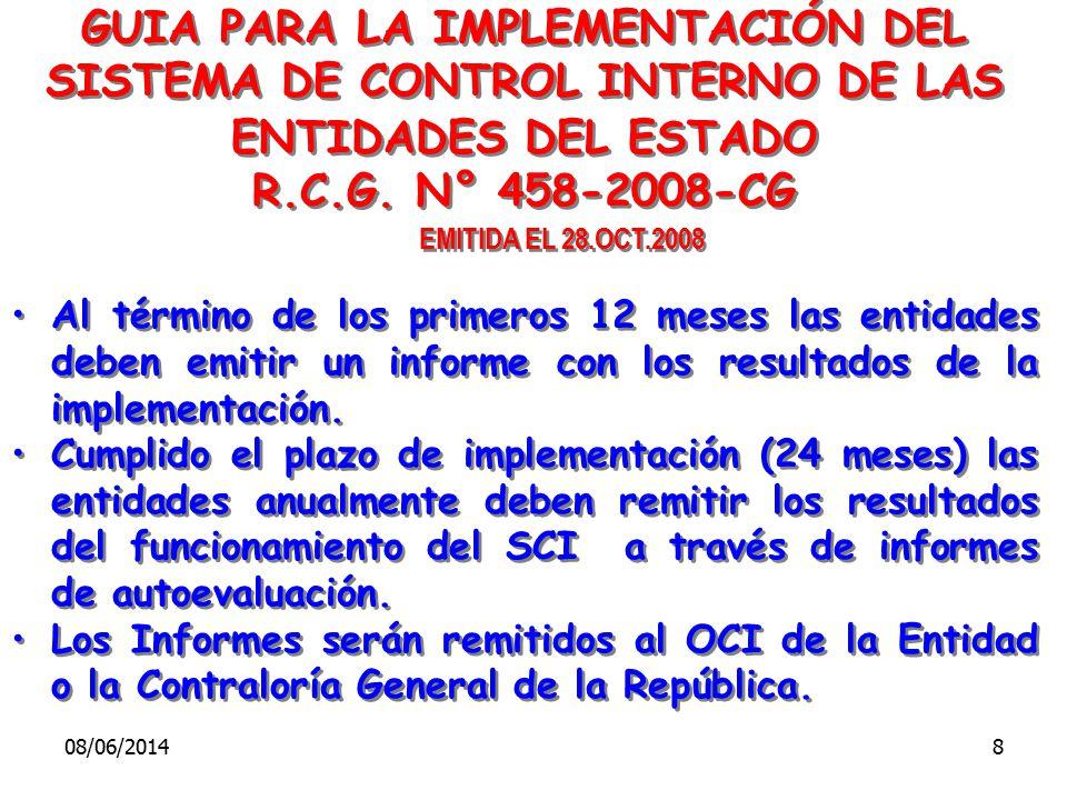 R.C.G. N° 458-2008-CG EMITIDA EL 28.OCT.2008