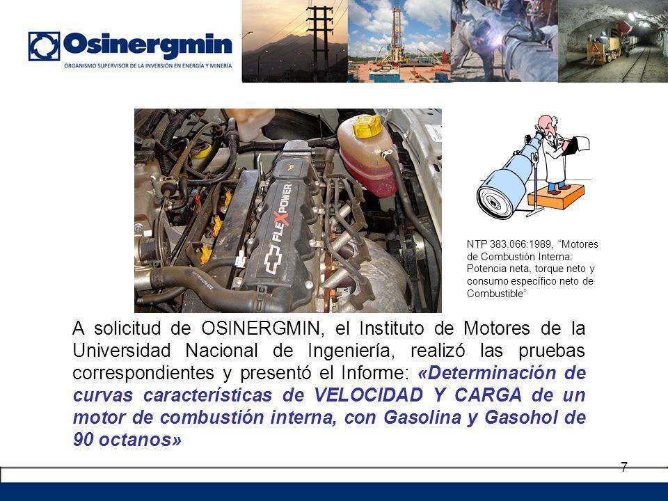 NTP 383.066:1989, Motores de Combustión Interna: Potencia neta, torque neto y consumo específico neto de Combustible