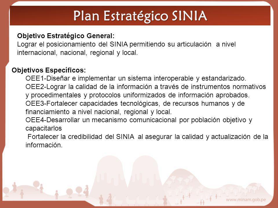 Plan Estratégico SINIA