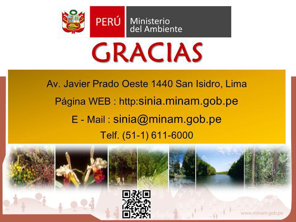 GRACIAS Av. Javier Prado Oeste 1440 San Isidro, Lima