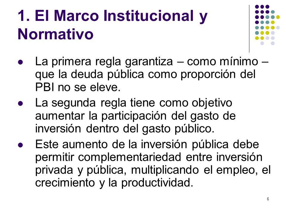 1. El Marco Institucional y Normativo