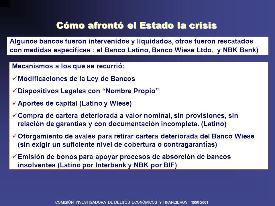 Cómo afrontó el Estado la crisis