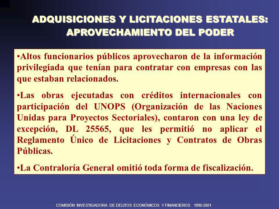 ADQUISICIONES Y LICITACIONES ESTATALES: APROVECHAMIENTO DEL PODER