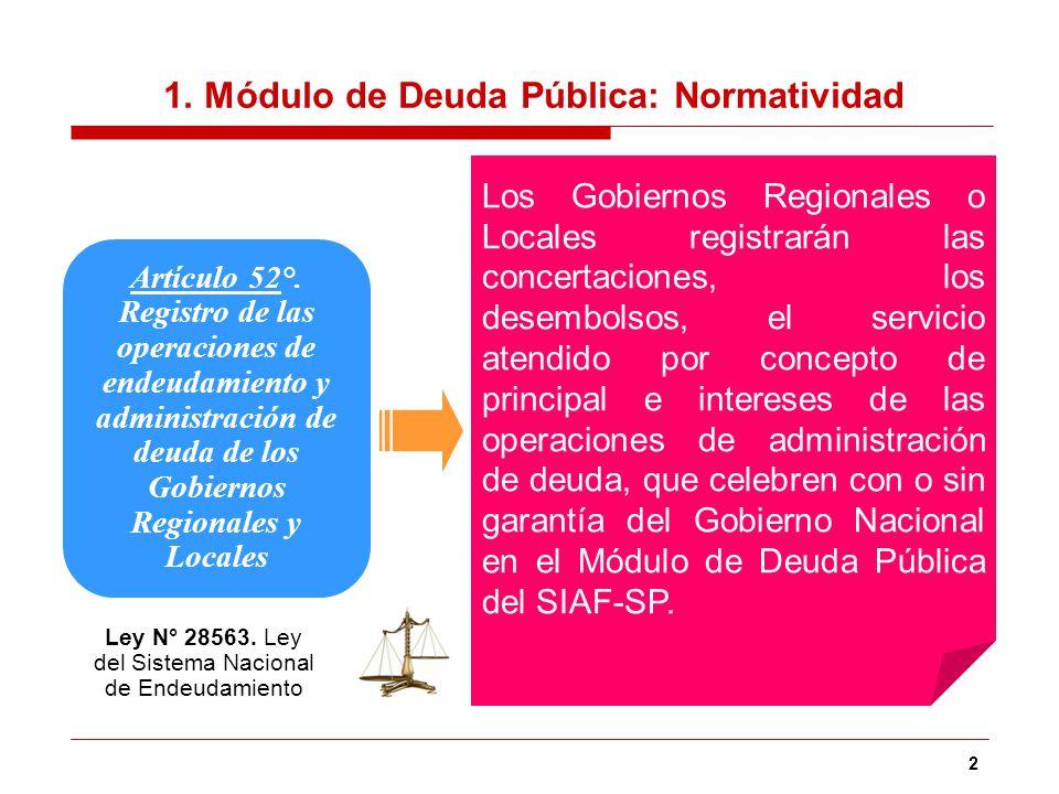 1. Módulo de Deuda Pública: Normatividad