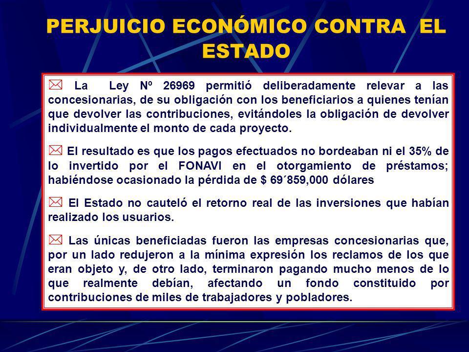 PERJUICIO ECONÓMICO CONTRA EL ESTADO