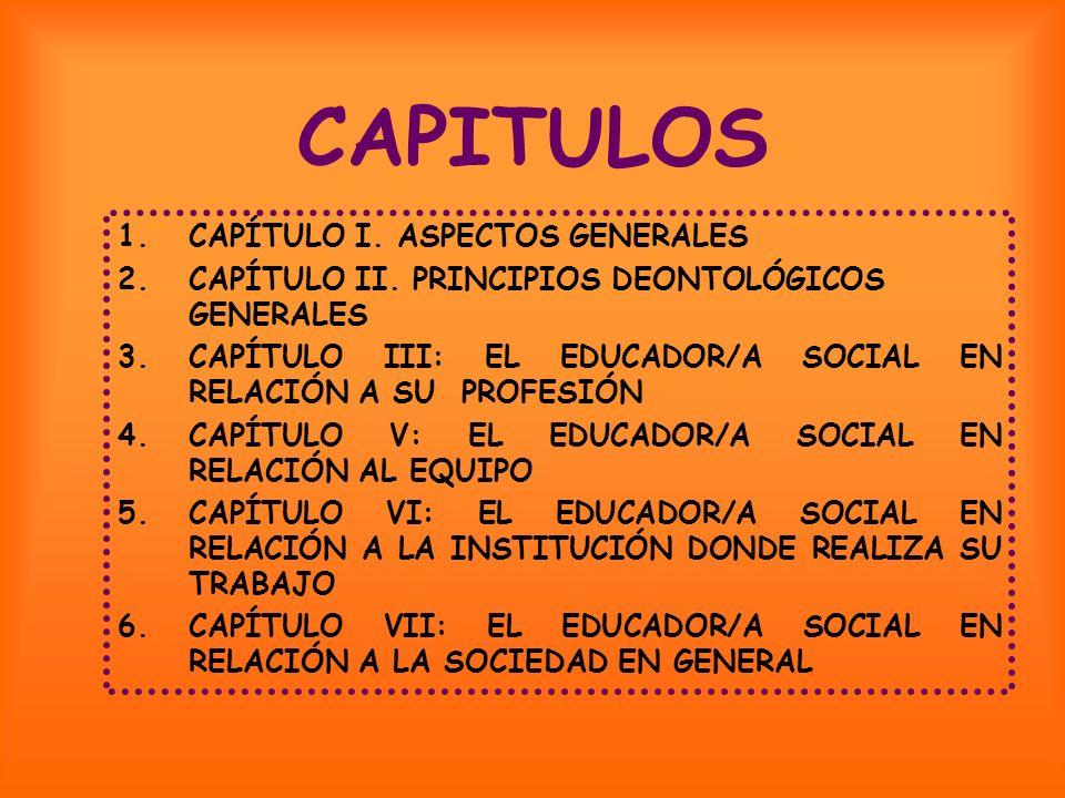 CAPITULOS CAPÍTULO I. ASPECTOS GENERALES