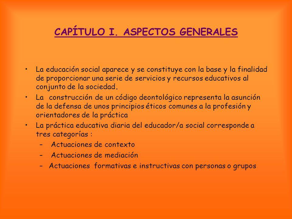 CAPÍTULO I. ASPECTOS GENERALES