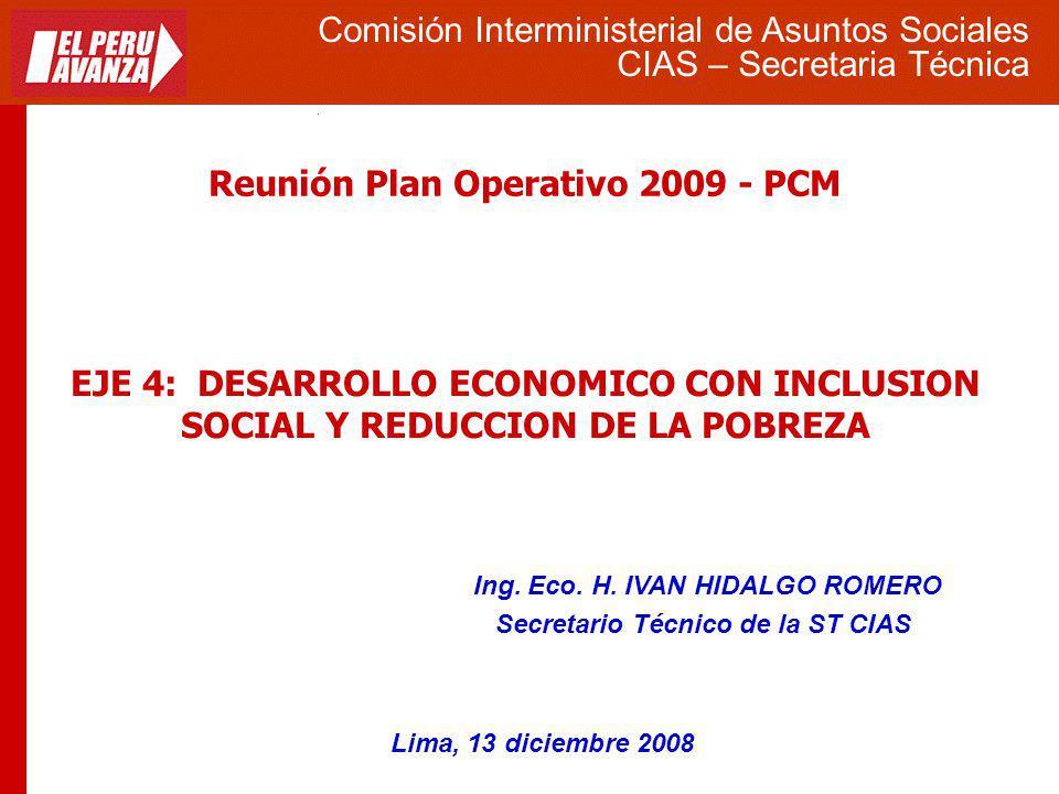Reunión Plan Operativo 2009 - PCM