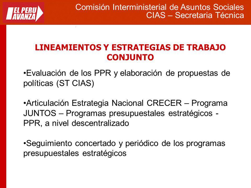 LINEAMIENTOS Y ESTRATEGIAS DE TRABAJO CONJUNTO