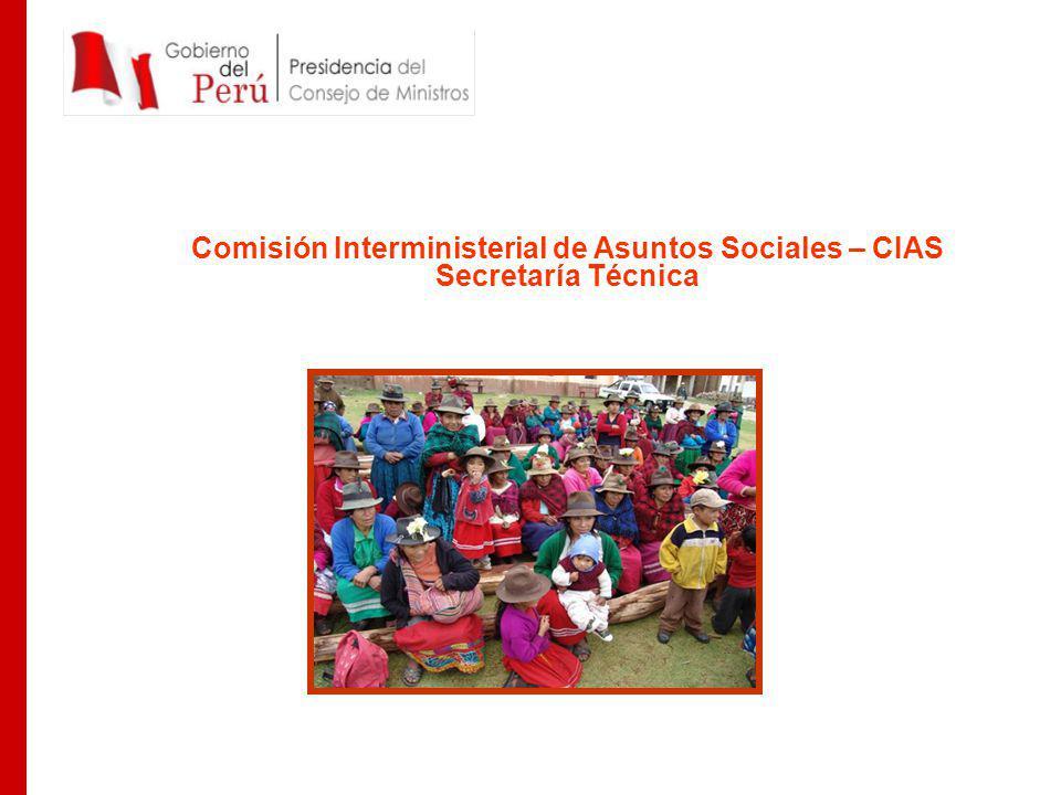 Comisión Interministerial de Asuntos Sociales – CIAS Secretaría Técnica