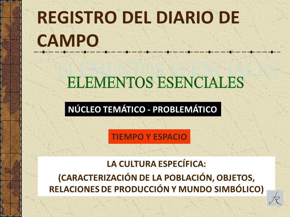 REGISTRO DEL DIARIO DE CAMPO