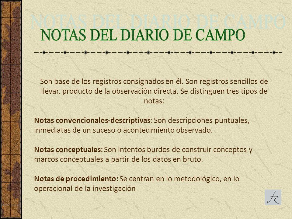 NOTAS DEL DIARIO DE CAMPO