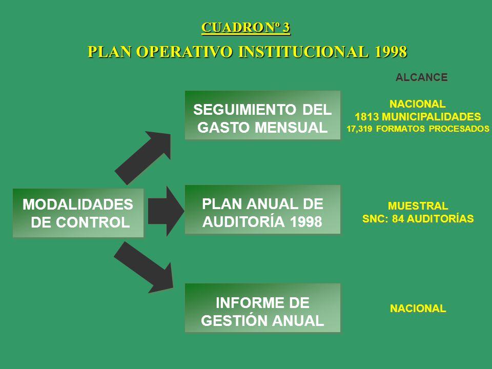 PLAN OPERATIVO INSTITUCIONAL 1998
