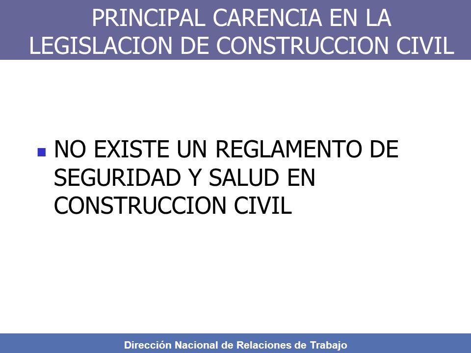 PRINCIPAL CARENCIA EN LA LEGISLACION DE CONSTRUCCION CIVIL