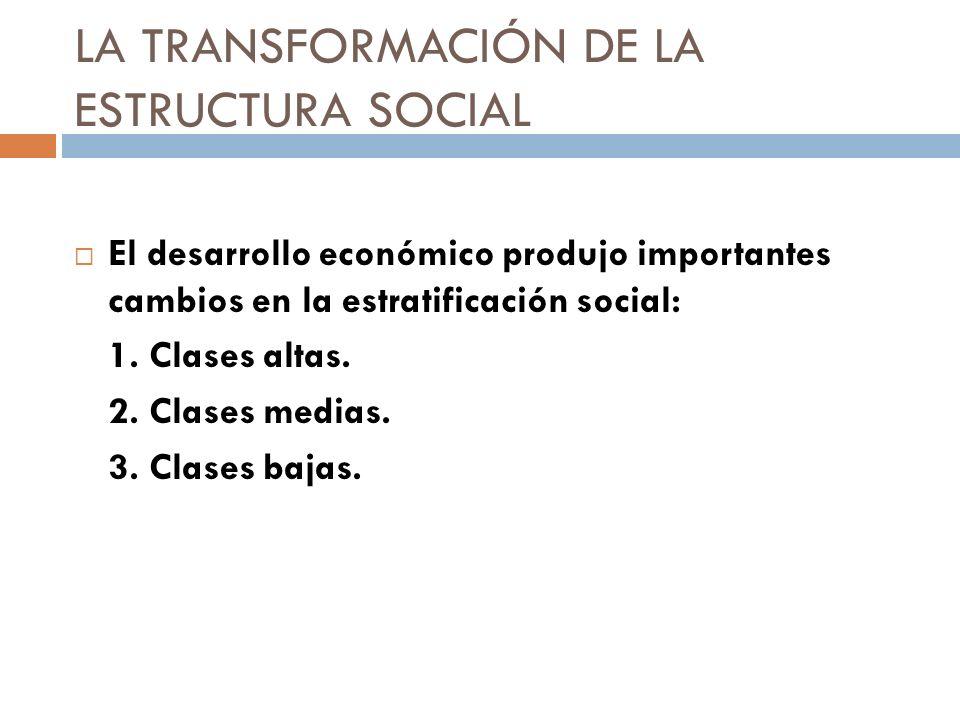 LA TRANSFORMACIÓN DE LA ESTRUCTURA SOCIAL
