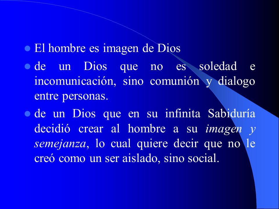 El hombre es imagen de Dios