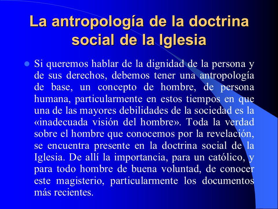 La antropología de la doctrina social de la Iglesia