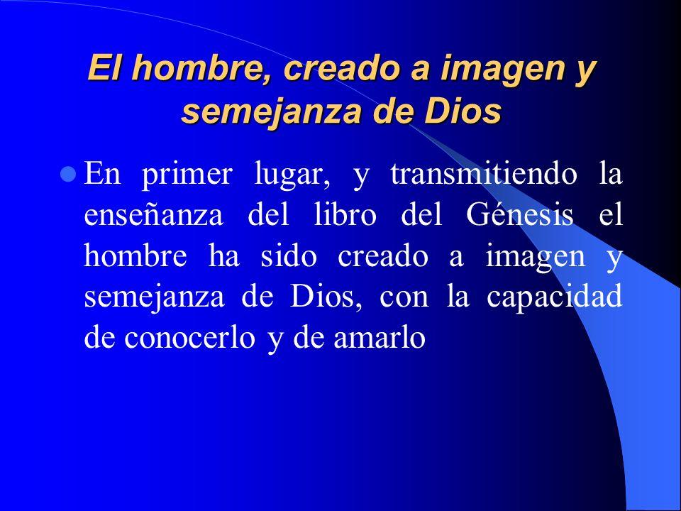 El hombre, creado a imagen y semejanza de Dios