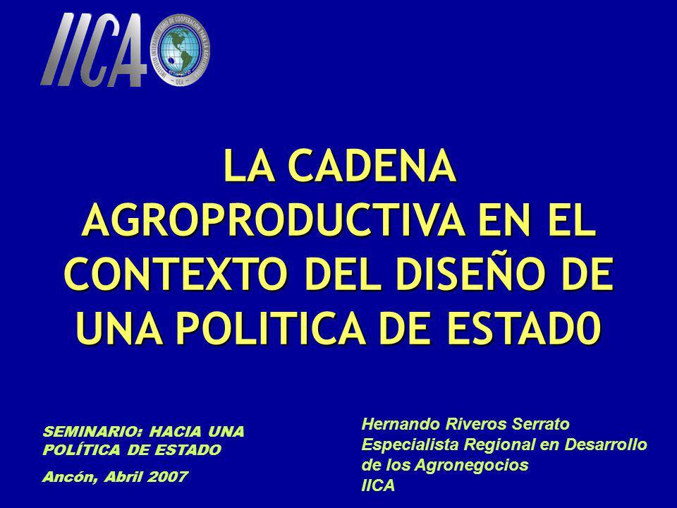 LA CADENA AGROPRODUCTIVA EN EL CONTEXTO DEL DISEÑO DE UNA POLITICA DE ESTAD0