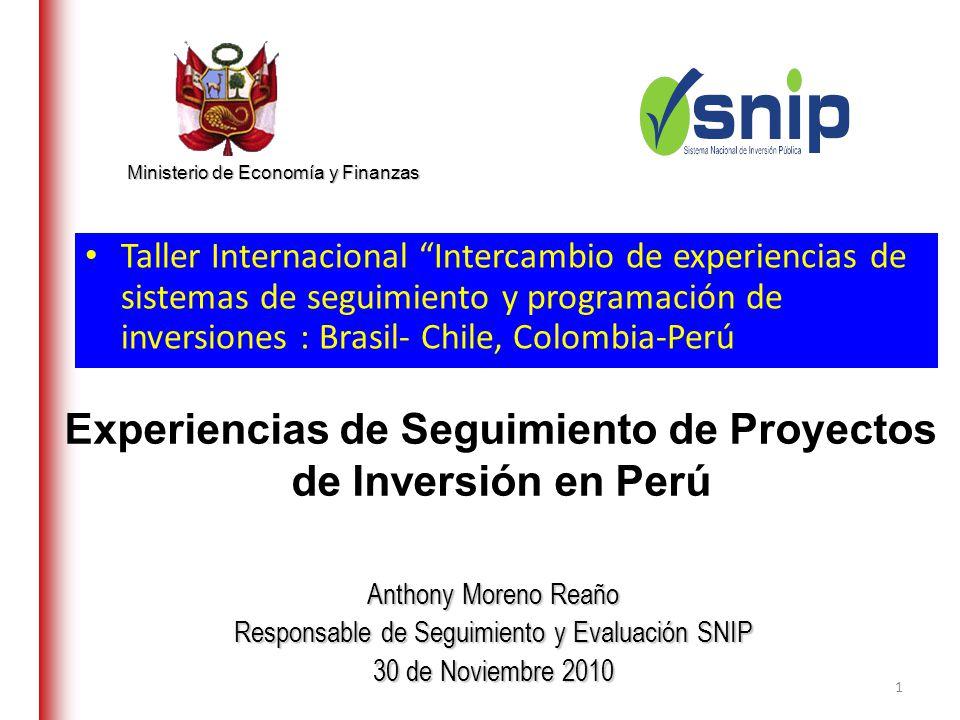 Experiencias de Seguimiento de Proyectos de Inversión en Perú