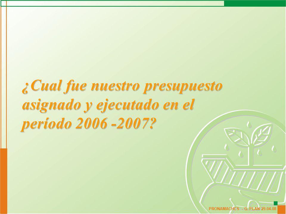 ¿Cual fue nuestro presupuesto asignado y ejecutado en el período 2006 -2007