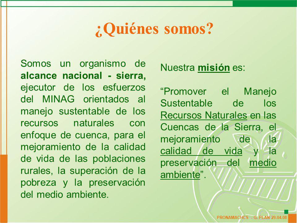 ¿Quiénes somos Nuestra misión es: