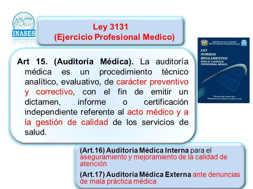 Ley 3131 (Ejercicio Profesional Medico)