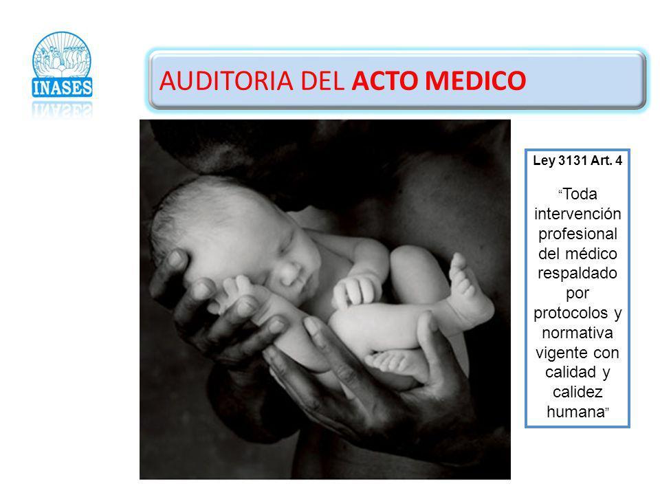 AUDITORIA DEL ACTO MEDICO