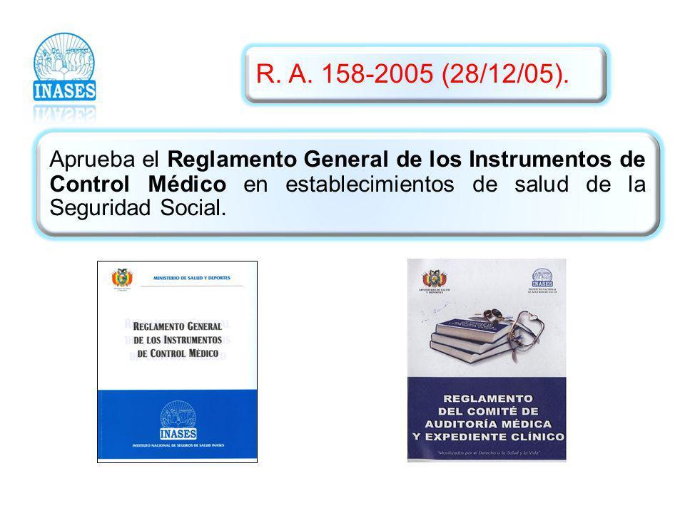 R. A. 158-2005 (28/12/05).