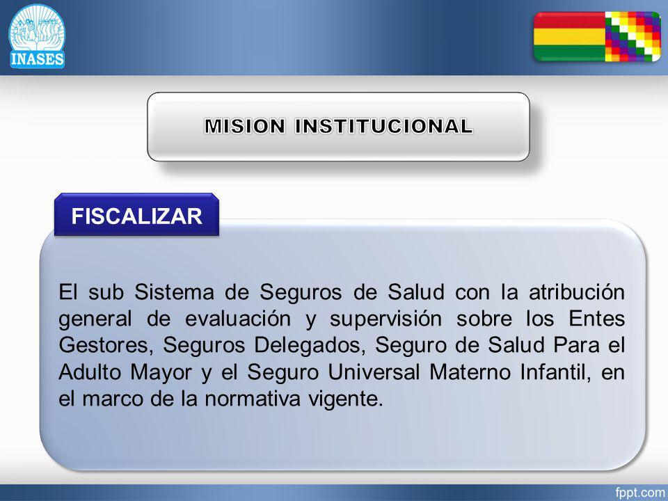 MISION INSTITUCIONAL FISCALIZAR.