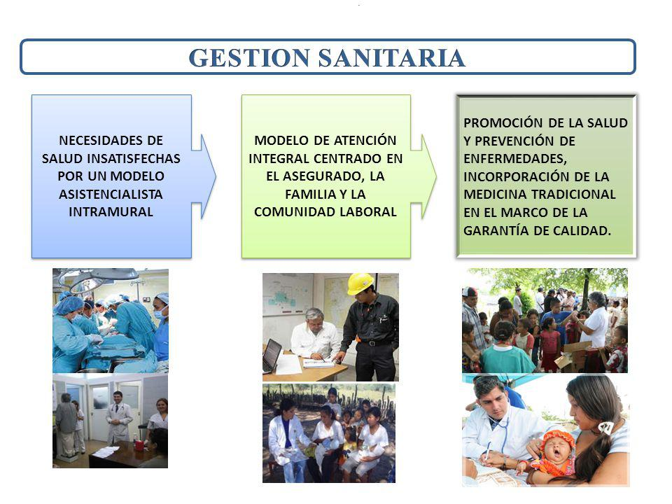 . GESTION SANITARIA. NECESIDADES DE SALUD INSATISFECHAS POR UN MODELO ASISTENCIALISTA INTRAMURAL.
