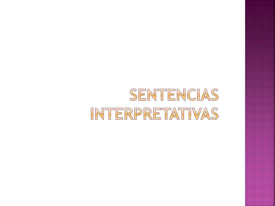 Sentencias interpretativas