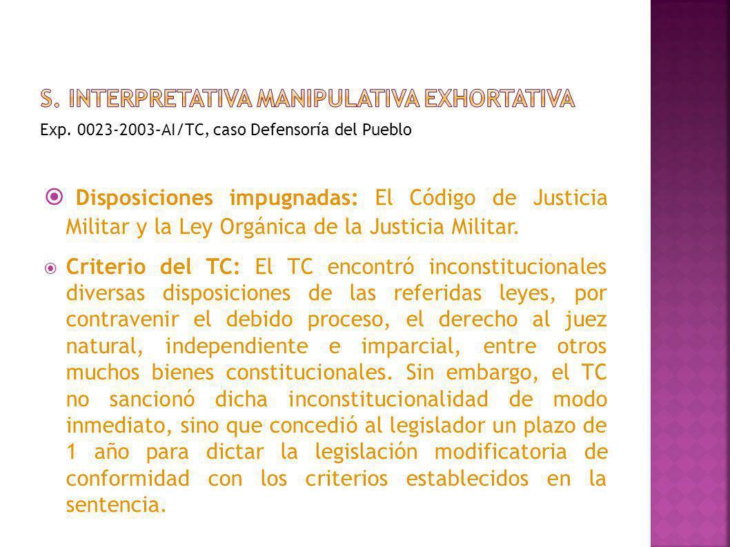 s. Interpretativa manipulativa exhortativa