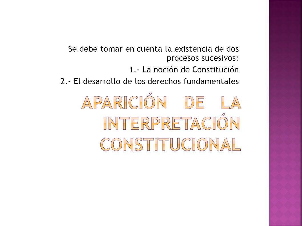 Aparición de la interpretación constitucional