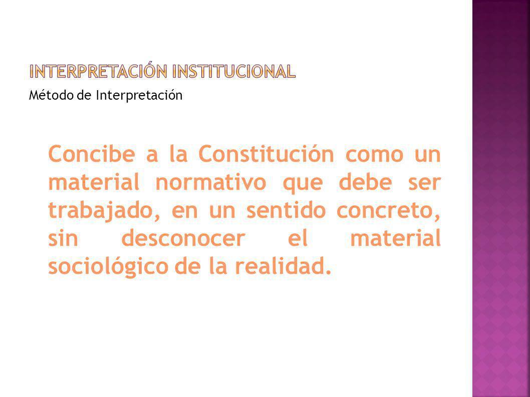 Interpretación institucional