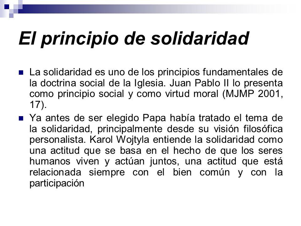 El principio de solidaridad