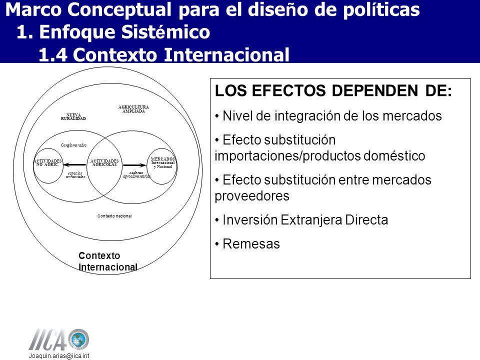 Marco Conceptual para el diseño de políticas 1. Enfoque Sistémico
