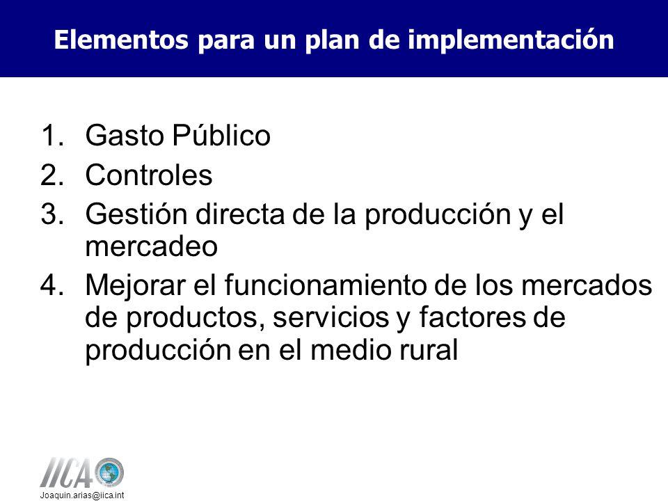 Elementos para un plan de implementación