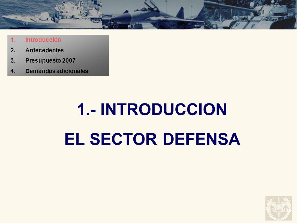1.- INTRODUCCION EL SECTOR DEFENSA