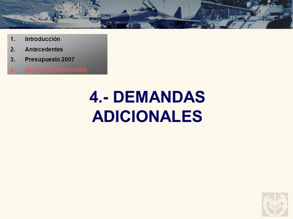 4.- DEMANDAS ADICIONALES