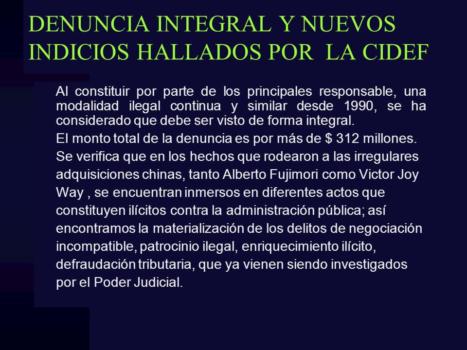 DENUNCIA INTEGRAL Y NUEVOS INDICIOS HALLADOS POR LA CIDEF