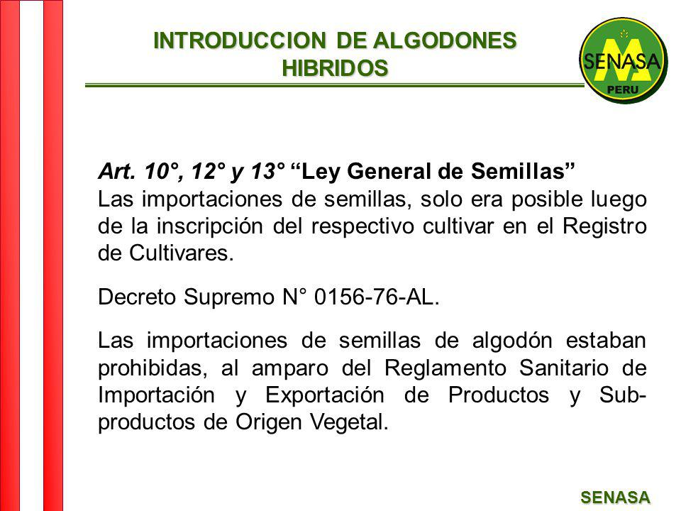 INTRODUCCION DE ALGODONES