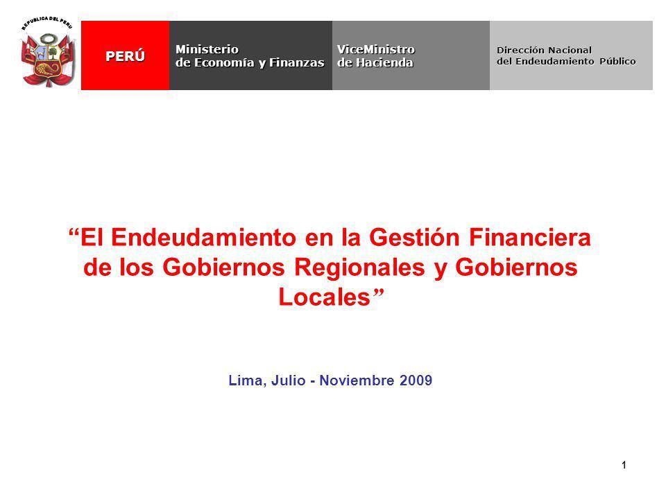 REPUBLICA DEL PERU ViceMinistro. de Hacienda. Ministerio. de Economía y Finanzas. PERÚ. Dirección Nacional.