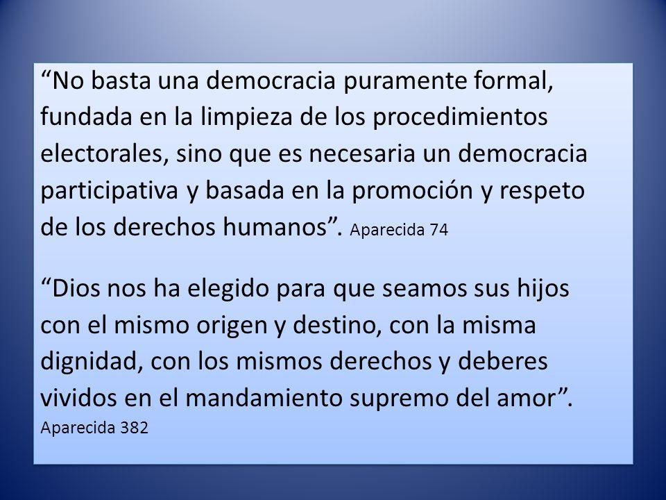 No basta una democracia puramente formal,