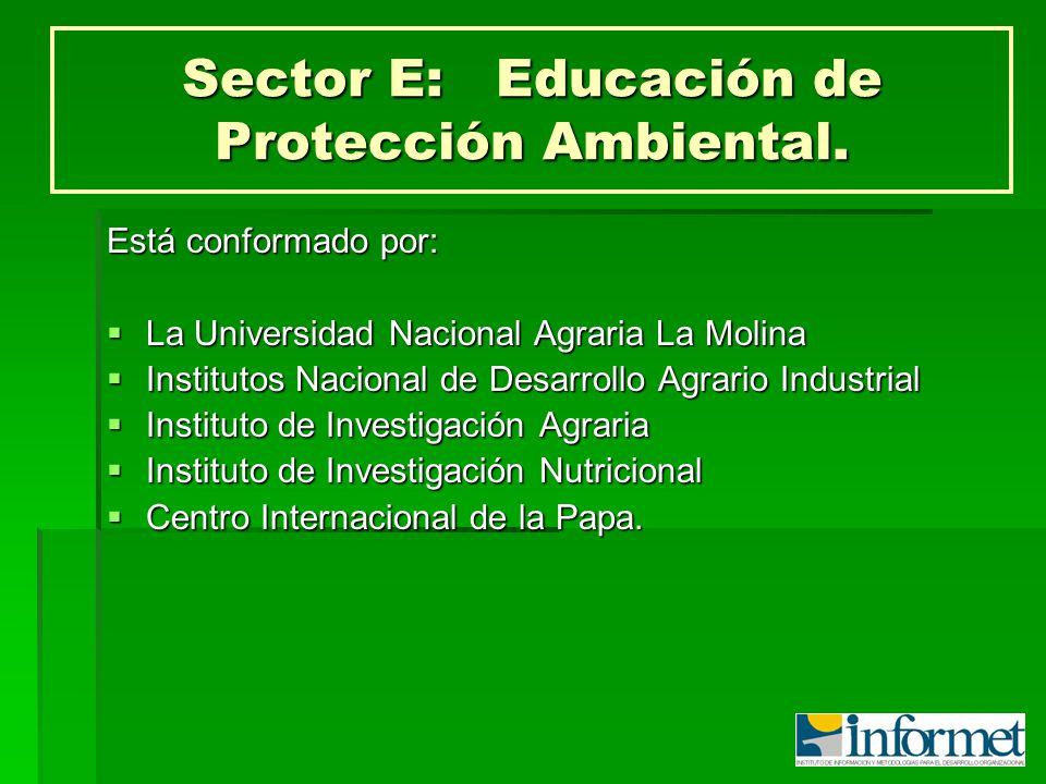 Sector E: Educación de Protección Ambiental.